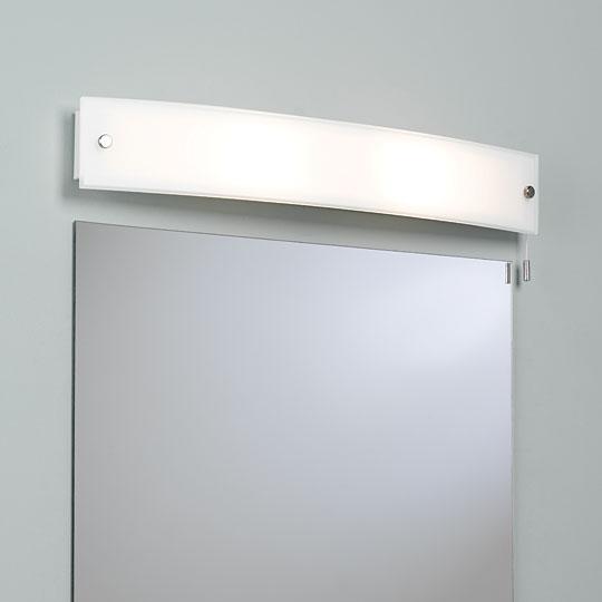 Curve 2X40W E14, vannitoa seinavalgusti IP44, matt klaas, nöörlülitiga, valgusallikas ei kuulu komplekti