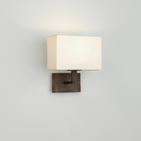 ASTRO+Connaught 1x60W E14, seinavalgusti, valge vari, pronks