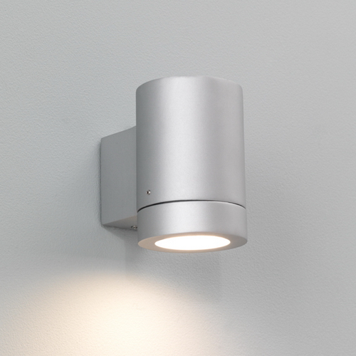 Porto Plus 1x11W GU10 CFL valgusallikas komplektis IP44 hõbedane, välisvalgusti seinale