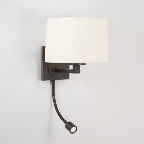 Azumi Classic LED 1x60W E27, 1x1W LED, seinavalgusti varjuta, pronks