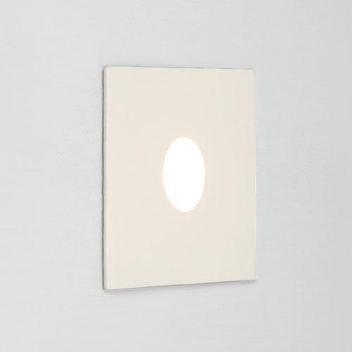 Tango LED 1W 23lm 3000K CRI90 IP65 seina süvistatav valgusti, hämardatav, matt valge, liiteseadmeta