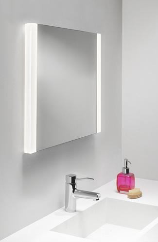 Calabria 2x14W T5, valgustatud peegel vannituppa, niiskuskindel IP44, ilma lülitita, mõõdud: 610x600x35mm, peeglisoojendus, valgusallikad komplektis