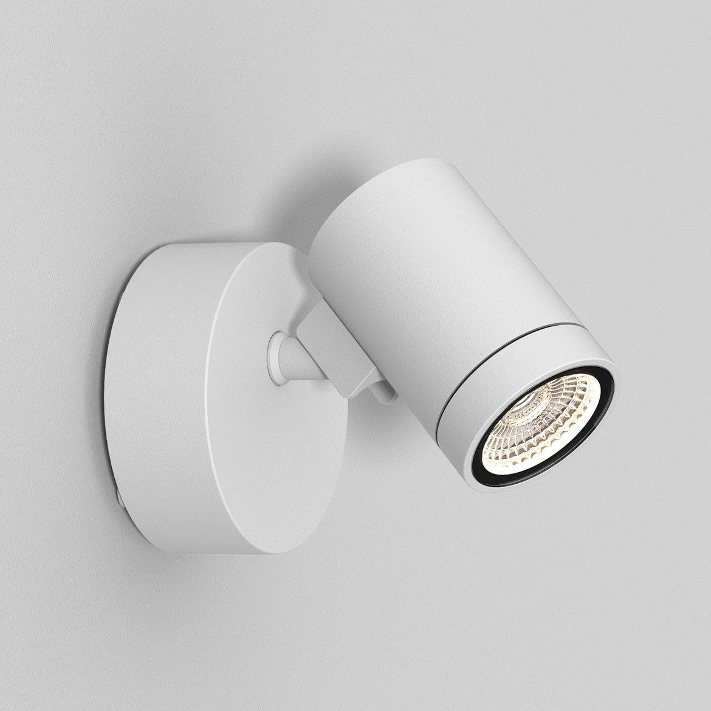 Bayville Single Spot LED 8,1W 490lm 3000K IP65 seinavalgusti, hämardatav, valge