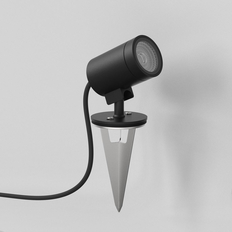 Bayville Spike Spot LED 8,1W 490lm 3000K IP65 kohtvalgusti maapiigiga, hämardatav, must
