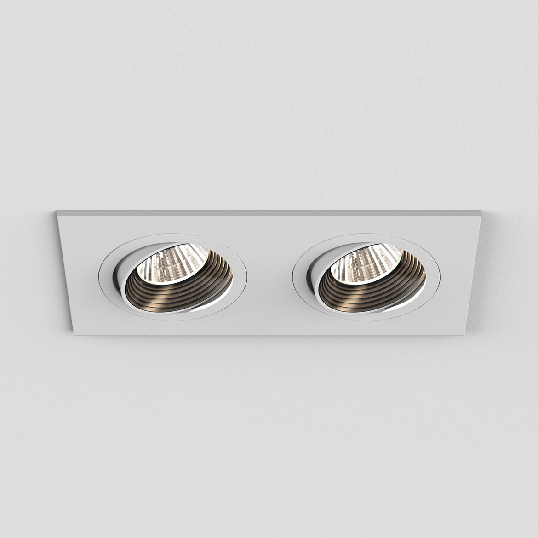Aprilia Twin LED 2x6,1W 1206lm 3000K 36° IP21 süvisvalgusti, hämardatav, matt valge, liiteseadmeta