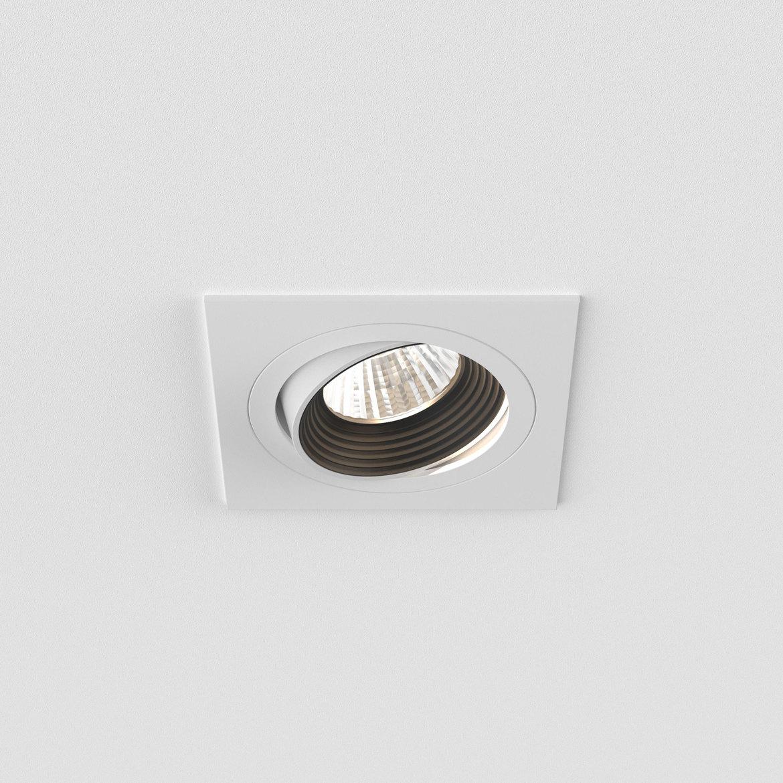Aprilia Square LED 6,1W 605lm 2700K 36° IP20 tulekindel süvisvalgusti, hämardatav, matt valge, liiteseadmeta