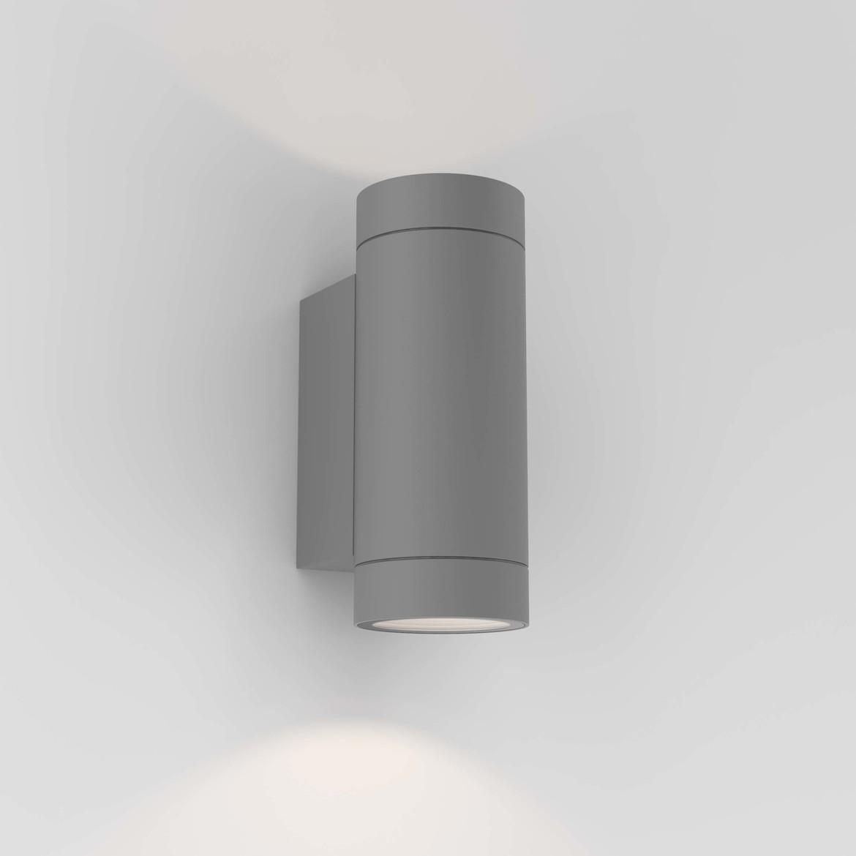 Dartmouth Twin 2x Max 6W GU10 LED IP54 seinavalgusti, hämardatav, hall