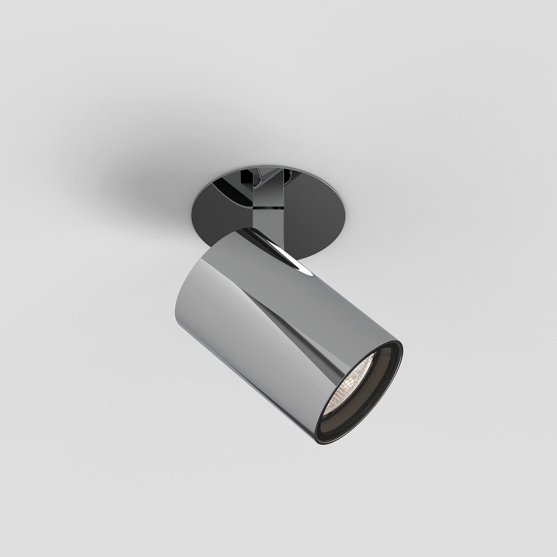 Aqua Recessed Max 6W GU10 LED IP44 süvistatav kohtvalgusti, hämardatav, poleeritud kroom
