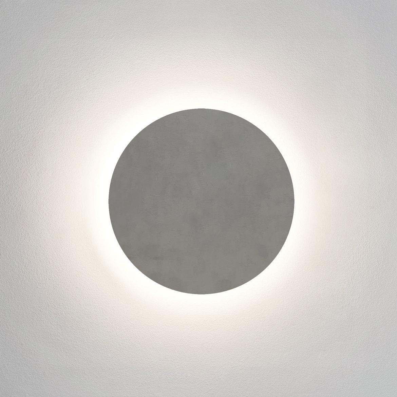 Eclipse Round 300 LED 12,6W 597lm 3000K IP44 seinavalgusti, betoon