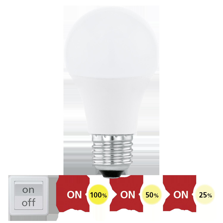 E27 LED A60 10W 806lm 3000K STEP-DIMMING (60W hõõglamp)
