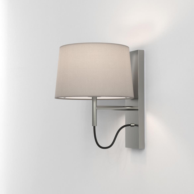 Telegraph Wall Max 12W E27 LED IP20 seinavalgusti, hämardatav, matt nikkel, ilma varjuta (tellida eraldi), mõõdud koos varjuga