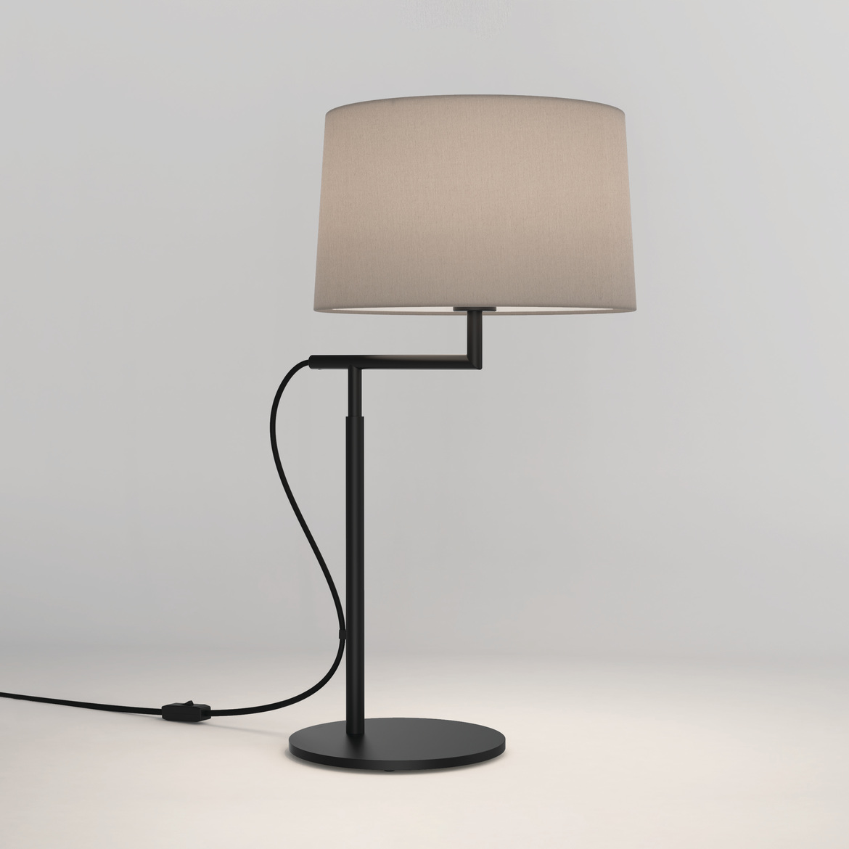 Telegraph Table Max 12W E27 LED IP20 lauavalgusti, lülitiga, matt must, ilma varjuta (tellida eraldi), mõõdud ilma varjuta