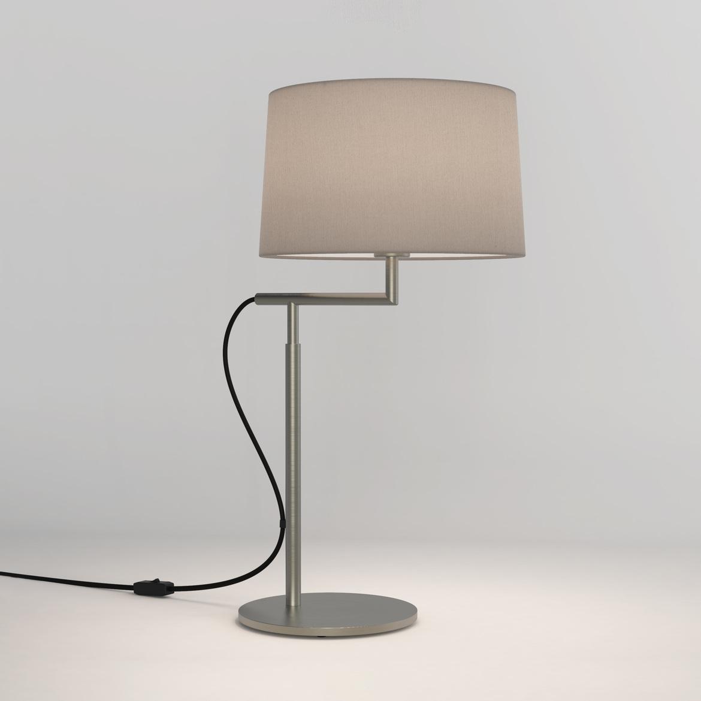 Telegraph Table Max 12W E27 LED IP20 lauavalgusti, lülitiga, matt nikkel, ilma varjuta (tellida eraldi), mõõdud ilma varjuta