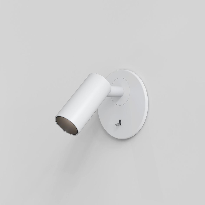 Micro Recess Switched LED 3,4W 166lm 2700K CRI90 IP20 süvistatav seinavalgusti, lülitiga, matt valge
