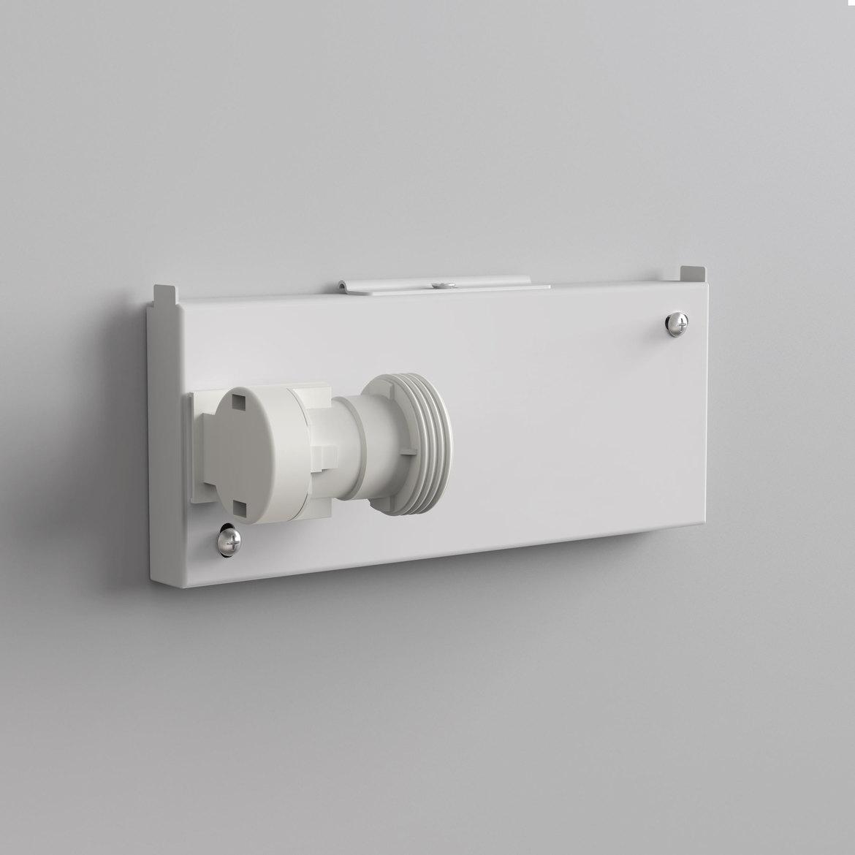 Chuo Rectangle 190 valgusti põhi Backplate 2 Max 60W E27 IP20, hämardatav, valge, mõõdud ilma varjuta
