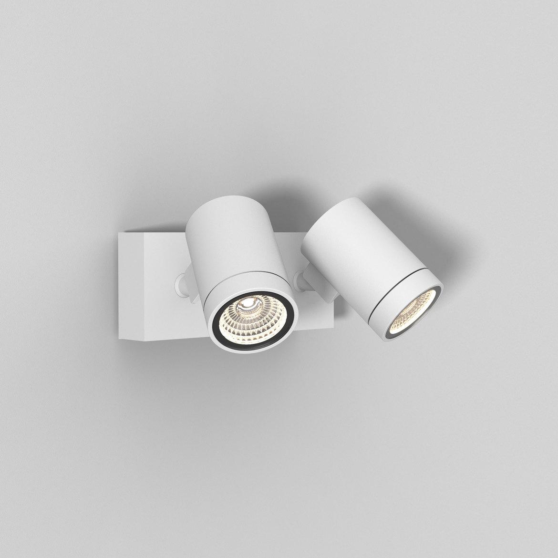 Bayville Twin Spot LED 15,9W 897lm 3000K IP65 seinavalgusti, hämardatav, valge