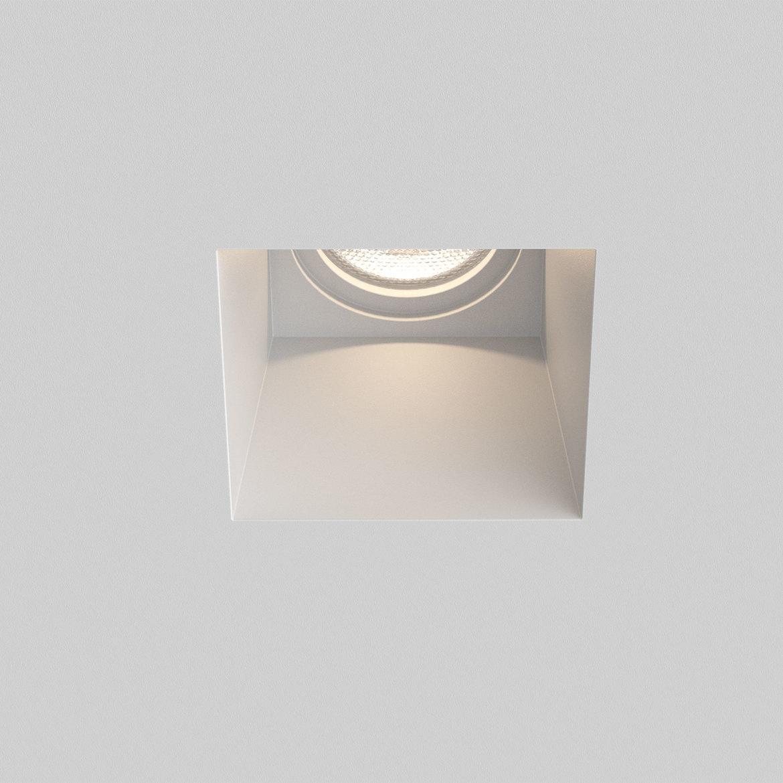 Blanco Square Fixed Max 6W GU10 LED IP20 süvisvalgusti, hämardatav, kips
