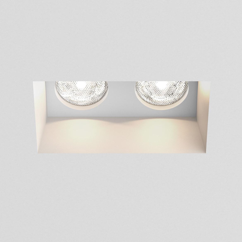 Blanco Twin Fixed 2x Max 6W GU10 LED IP20 süvisvalgusti, hämardatav, kips