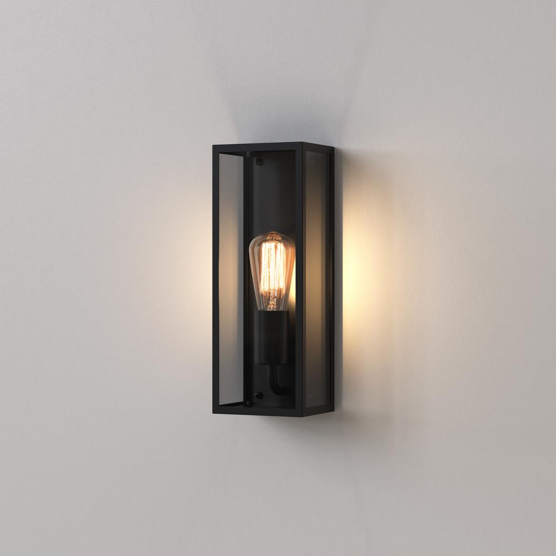 Messina 130 Max 60W E27 IP44 välisvalgusti, hämardatav, must