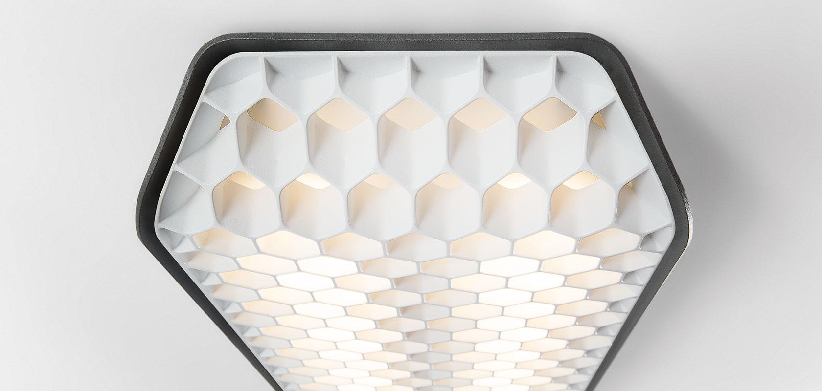 Modular+Rippvalgusti Vaeder LED 8x4W 3000K CRI90 dali/pushdim/1-10V donkey grey struc - white
