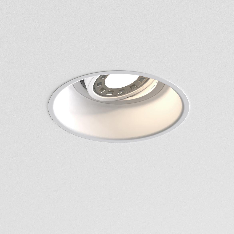 Minima Round Adjustable Max 6W GU10 LED IP20 tulekindel süvisvalgusti, hämardatav, matt valge