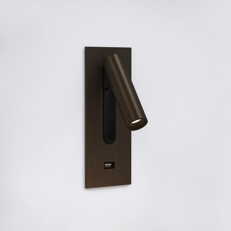 Fuse Usb Switched LED 3,5W 185lm 2700K CRI90 IP20 süvistatav seinavalgusti, lülitiga, pronks