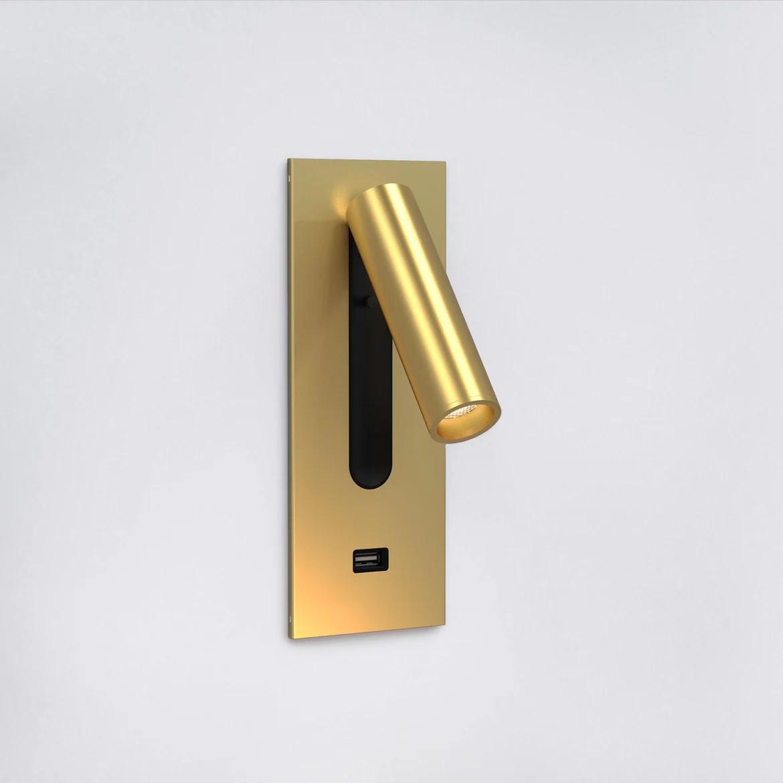 Fuse Usb Switched LED 3,5W 185lm 2700K CRI90 IP20 süvistatav seinavalgusti, lülitiga, matt kuld