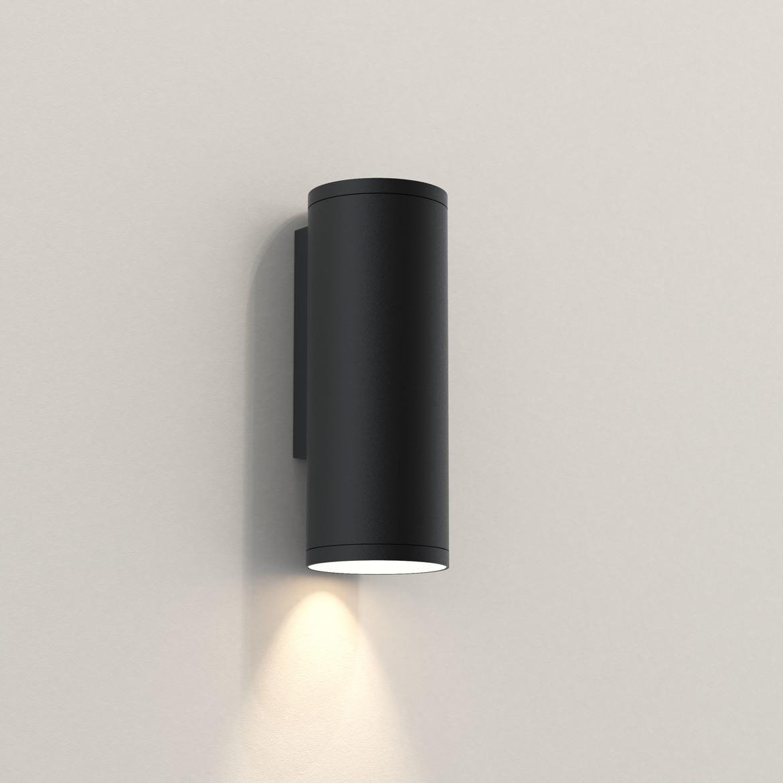 Ava 200 Max 6W GU10 LED IP44 seinavalgusti, hämardatav, must