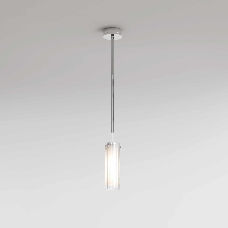 Ottavino Pendant Max 5W E14 LED IP44 rippvalgusti, hämardatav, poleeritud kroom, klaasist hajuti