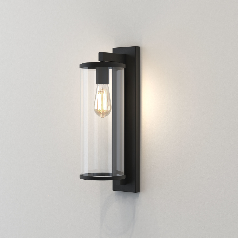 Pimlico 500 Max 60W E27 IP23 seinavalgusti, hämardatav, must, klaasist hajuti
