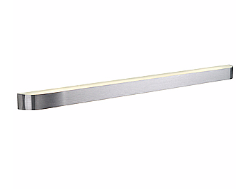 SLV+ARLINA T5 28 wall light, alu brushed, 28W, with frosted glass