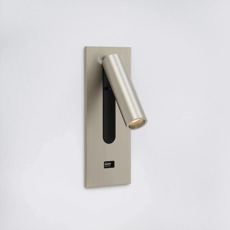 Fuse Usb Switched LED 3,5W 185lm 2700K CRI90 IP20 süvistatav seinavalgusti, lülitiga, matt nikkel