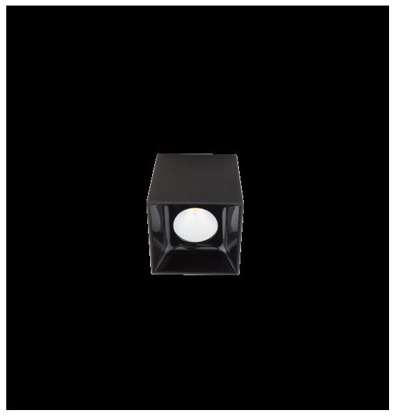 Laevalgusti SQUARE S LED 12,5W 1400lm 3000K 45˚CRI90; metall / must