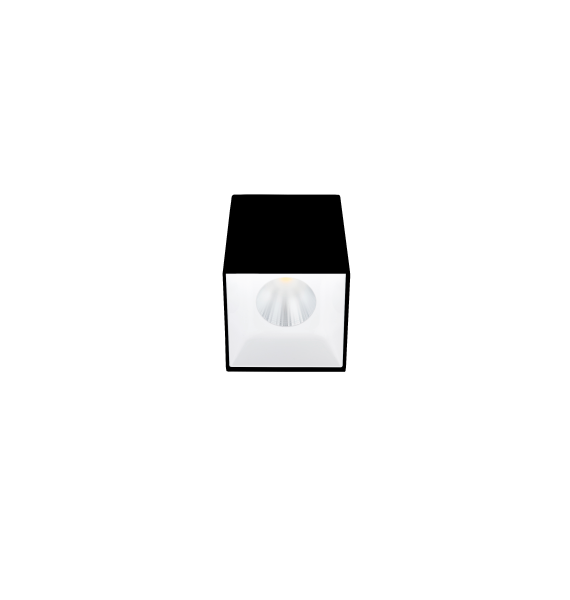 Laevalgusti SQUARE S LED 12,5W 1400lm 3000K 45˚CRI90; metal, must/valge