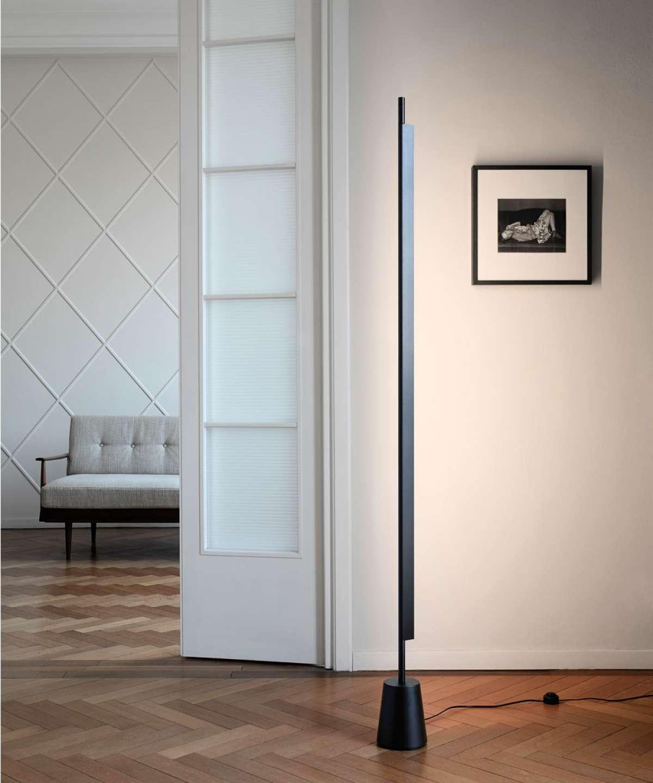 Põrandavalgusti Compendium LED 43W 1015lm 3000K alumiinum, must (valgusti alus eraldi tellida)