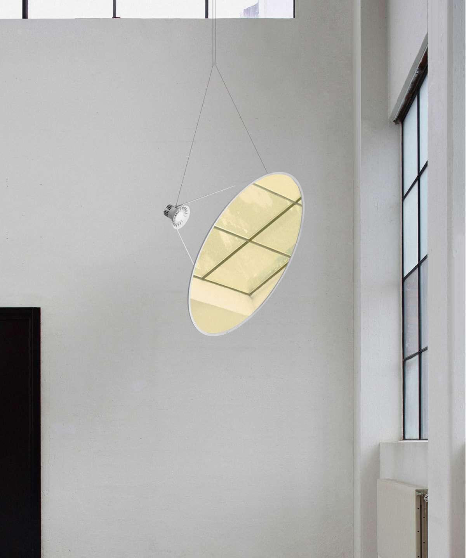 Rippvalgusti Amisol LED 53W 3203lm 3000K CRI90 hämardatav; alumiinium, valge / plastik, valge (hajuti / reflektor tellida eraldi)