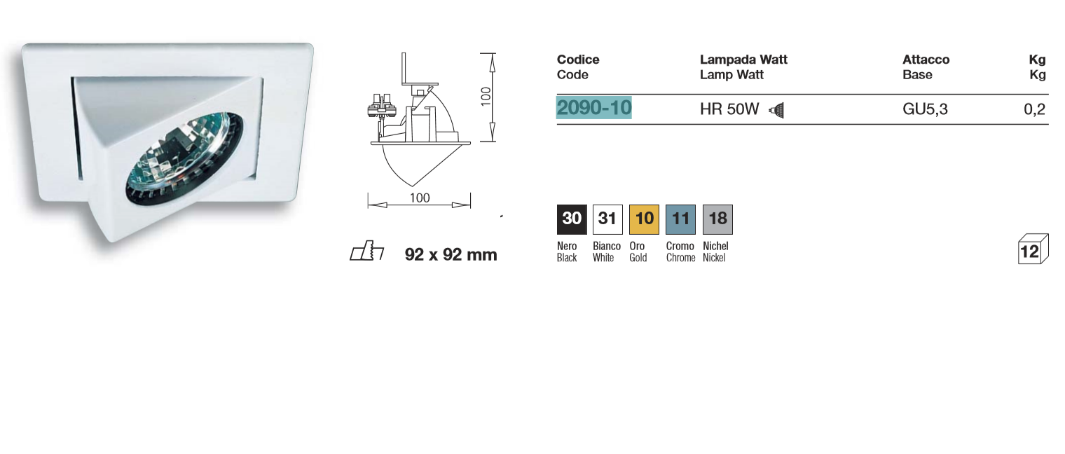 IVELA vana+2090 50W G5.3 KROOM
