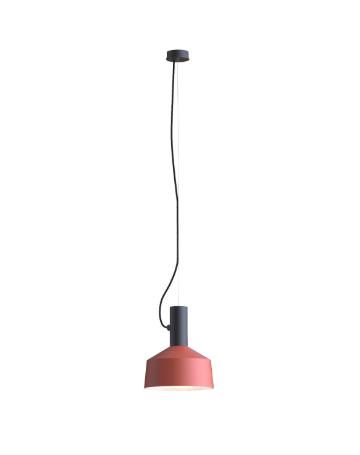 ROOMOR SUSPENDED 1.0 PAR16 Max 15W GU10 LED IP20 rippvalgusti, must, kuppel 2.0 punane