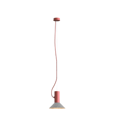 ROOMOR SUSPENDED 1.0 PAR16 Max 15W GU10 LED IP20 rippvalgusti, punane, kuppel 1.0 vilditud hall