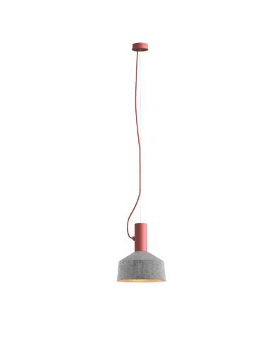 ROOMOR SUSPENDED 1.0 PAR16 Max 15W GU10 LED IP20 rippvalgusti, punane, kuppel 2.0 vilditud hall