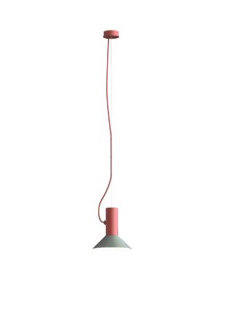 ROOMOR SUSPENDED 1.0 PAR16 Max 15W GU10 LED IP20 rippvalgusti, punane, kuppel 1.0 hall