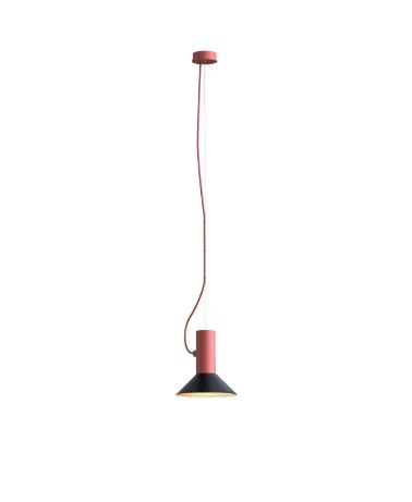 ROOMOR SUSPENDED 1.0 PAR16 Max 15W GU10 LED IP20 rippvalgusti, punane, kuppel 1.0 must/kuld