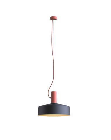 ROOMOR SUSPENDED 1.0 PAR16 Max 15W GU10 LED IP20 rippvalgusti, punane, kuppel 3.0 must/kuld