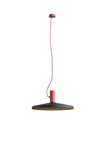 ROOMOR SUSPENDED 1.0 PAR16 Max 15W GU10 LED IP20 rippvalgusti, punane, kuppel 4.0 must/kuld