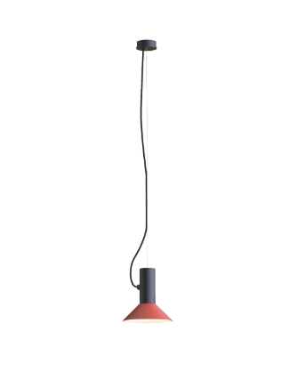 ROOMOR SUSPENDED 1.0 PAR16 Max 15W GU10 LED IP20 rippvalgusti, must, kuppel 1.0 punane