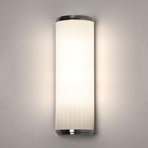 Monza 400 LED 6,4W, 3000K, 244lm, IP44, niiskuskindel vannitoavalgusti LED liiteseadmega koos valgusallikaga, poleeritud kroom/klaar klaas, lülitita