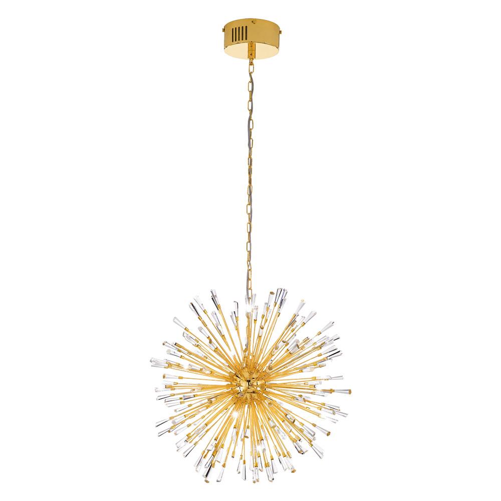 Rippvalgusti VIVALDO 21x G4 metall, kuldne / kristall
