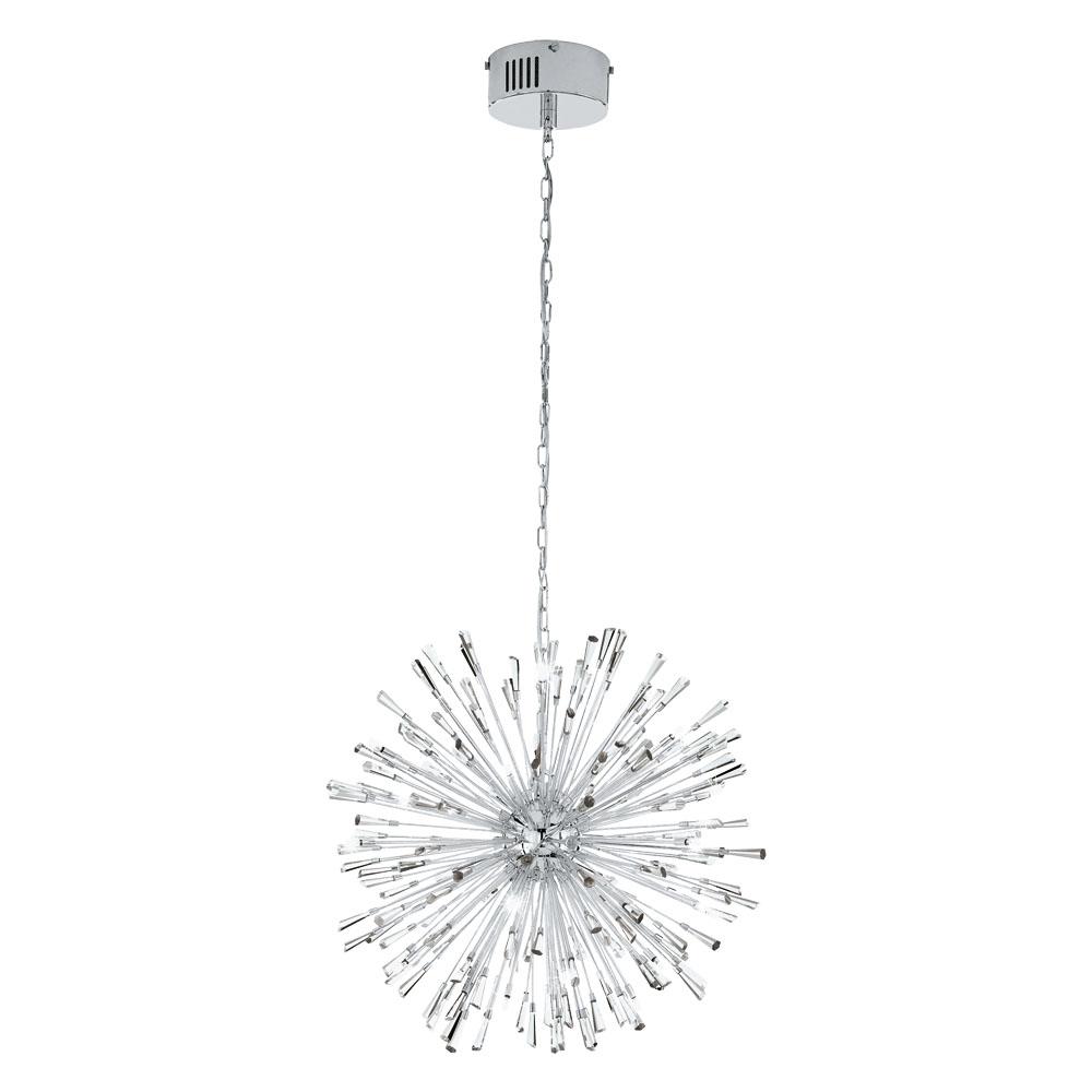 Rippvalgusti VIVALDO 21x G4 metall, kroom / kristall