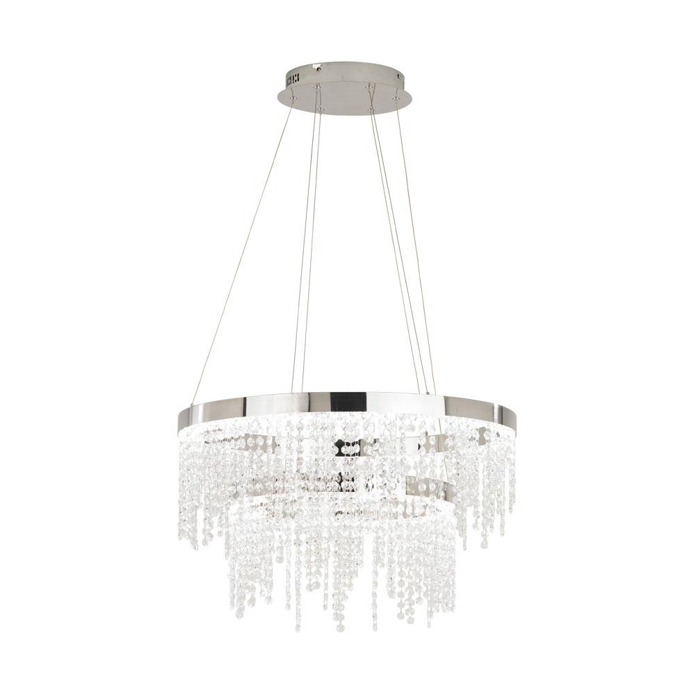 Rippvalgusti ANTELAO LED 46W 5800lm metall, kroom / kristall