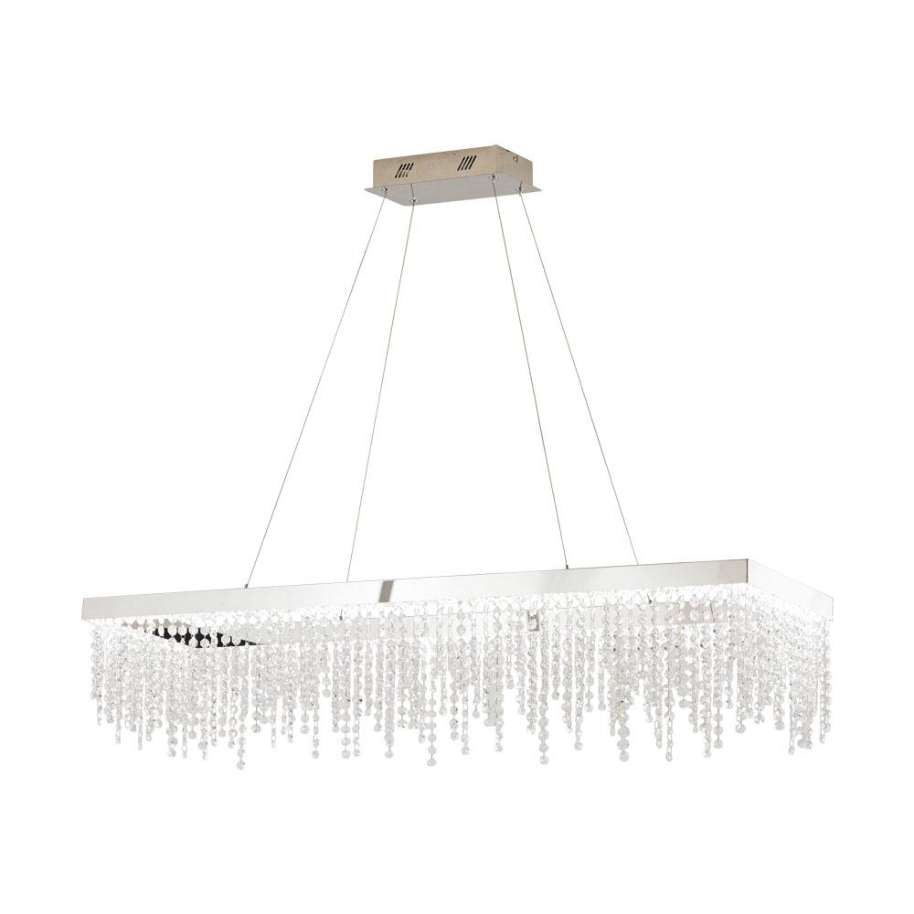 Rippvalgusti ANTELAO LED 39W 5100lm hämardatav; metall, kroom / kristall